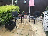Garden bistro furniture set