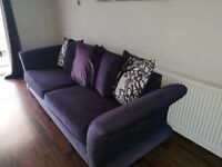 DFS SOFA AND FOOTSTOOL WITH STORAGE
