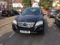 MERCEDES-BENZ ML320 3.0 CDI SPORT AUTOMATIC DIESAL 5 DOOR SATIONWAGON BLACK WITH FULL LEATHER & SAT