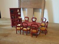 Wooden dolls house furniture