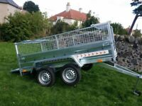 BRAND NEW MODEL 7.7x4.2 DOUBLE AXLE TRAILER WITH 40CM MESH WITH A TIPPING FEATURE