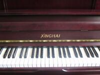 Xinghai Upright Piano   Excellent Condition   Medium Mate Mahogany   Tuned and FREE Delivered!
