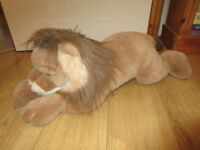 A&A Plush Inc - Vintage soft LION lying down - IMMACULATE condition - RARE & Collectable