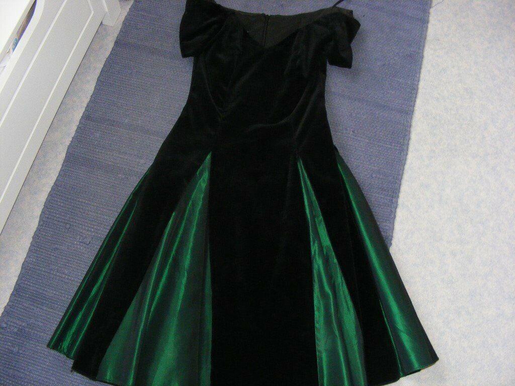 420fff9eb4859 Vintage Velvet & Taffeta Dress Ladies Size 6. | in Plymouth, Devon ...