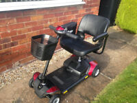 Pride GO-GO Elite Traveller 4 Mobility Scooter (Only 5 weeks old) Mint condition