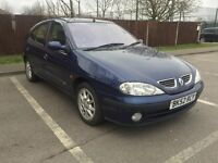 52 PLATE RENAULT MEGANE 1.4 SERVICE HISTORY TIMING BELT CHANGED BLUE COLOUR 5 DOOR LONG MOT AIRCON