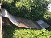 Vert ramp / half pipe bmx skate