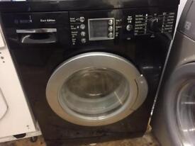 Black washing machine bosch