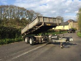 Ifor Williams TT105 tipper tipping trailer ( Ivor Williams , Nugent , Brian James )