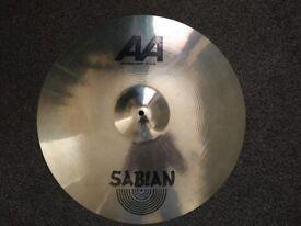 Sabian Cymbal Set, 14inch Hi-hats, 20inch ride & 10 inch splash