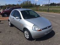 2007 07 FORD KA STYLE 1300cc 2 OWNERS 87100 MILES C.D ELECTRIC WINDOWS, 2 KEYS, LONG MOT.