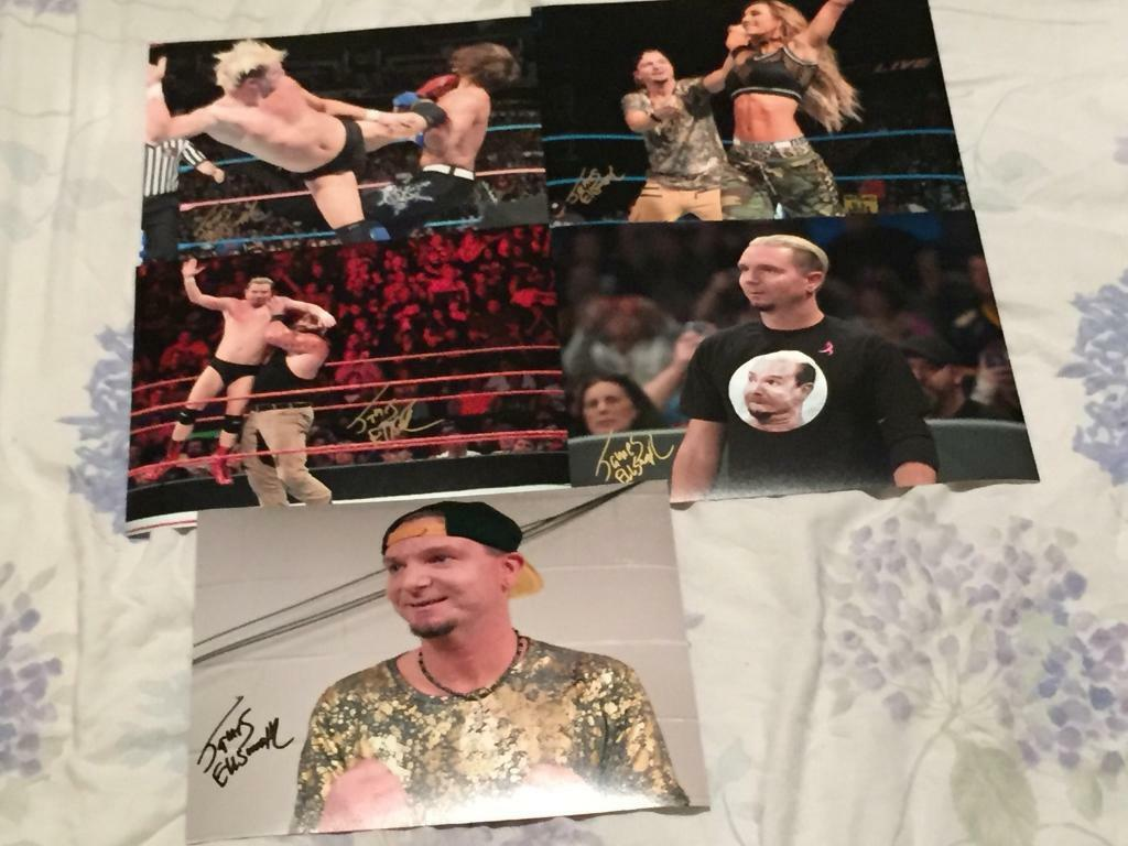 Wwe James Ellsworth Signed 8x10 Photos Proof In Newcastle Under