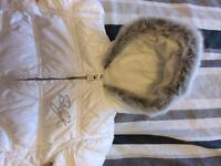 Baby white snowsuits 0-3 months