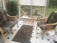 Conservatory seating and table