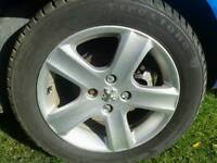Peugeot 307 alloy wheels x 5 lovely condition good tyres £145
