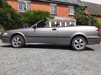 Saab 9-3 convertible 16 valve turbo 2002, full MOT, low mileage, in very good condition £1,350 ono