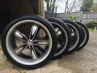 """Alloy wheels Vauxhall Volkswagen mg rover 235 40 18"""" tyres"""