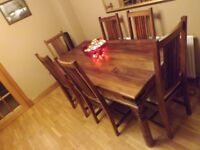 Maharani 6 Seater Dining Table with chairs