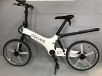 GOCYCLE G1 ELECTRIC PEDAL ASSIST BIKE with charger and manual - very good condition - unusual design