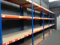 JOB LOT 50 bays rapid1 industrial long span shelving as new! ( pallet racking , storage)