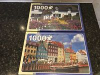 3 1000 Piece Puzzles New and Unopened