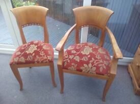 Indonesian Teak Dining Chairs
