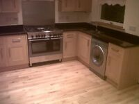2 bedroom house to rent. Garage front and back garden