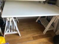 IKEA desk with trestle legs