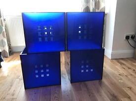 4 x blue Lekman storage boxes