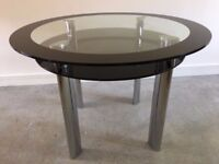 Circular Glass Dining Table - Good Condition