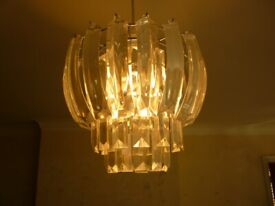 Laura Ashley chandelier style lampshade.