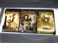 3 Lord of the Rings dvd's