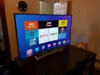 Tv hisense curved 55 inch 4k.smart tv.