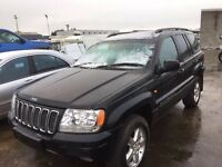 Jeep Grand Cherokee diesel 2.7 auto parts available