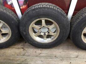 Mitsubishi Pajaro 5,tyres and alloys