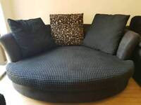 Fabric Sofa 3 seater + 1 large seater + footrest