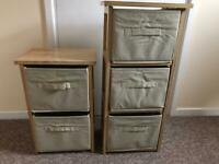 2x wooden Storage Towers
