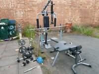 Infinity multi pro gym & body max bench with weights