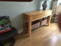 Marks and Spencer oak console table