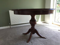 Circular Dining Table with 4 Chairs ** Great Condition** Fold Out Antique Retro Vintage