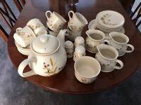 Marks & Spencer harvest tea cups saucers small plates teapot sugar bowl milk jugs
