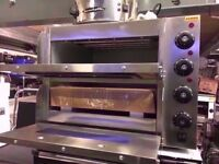 CATERING COMMERCIAL 2 DECK PIZZA OVEN 40 X 40 CM TAKE AWAYFAST FOOD CHICKEN CAFE SHOP KEBAB KITCHEN