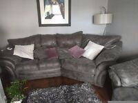 Beautiful grey snug sofa with matching armchair