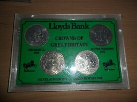 Elizabeth II 4 x crown coin set
