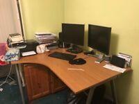 IKEA Galant Corner Desk - Brown - Bargain