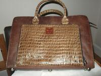 Brand New Ladys Zerimar genuine leather briefcase