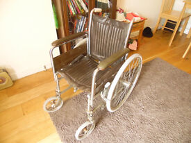 Carters wheelchair for spares or repair. NOT SELF PROPELING as seen but has wrong foot rests