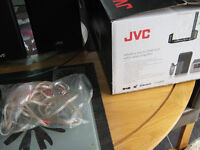 Black JVC bookshelf speakers 75w x2, brand new in box , smoke free home, collection only please.