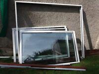 Patio doors - 2 sets of 2 aluminium doors