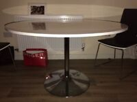 Dwell dining table white gloss 120 cm round